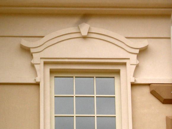 Фасад окон из пенопласта
